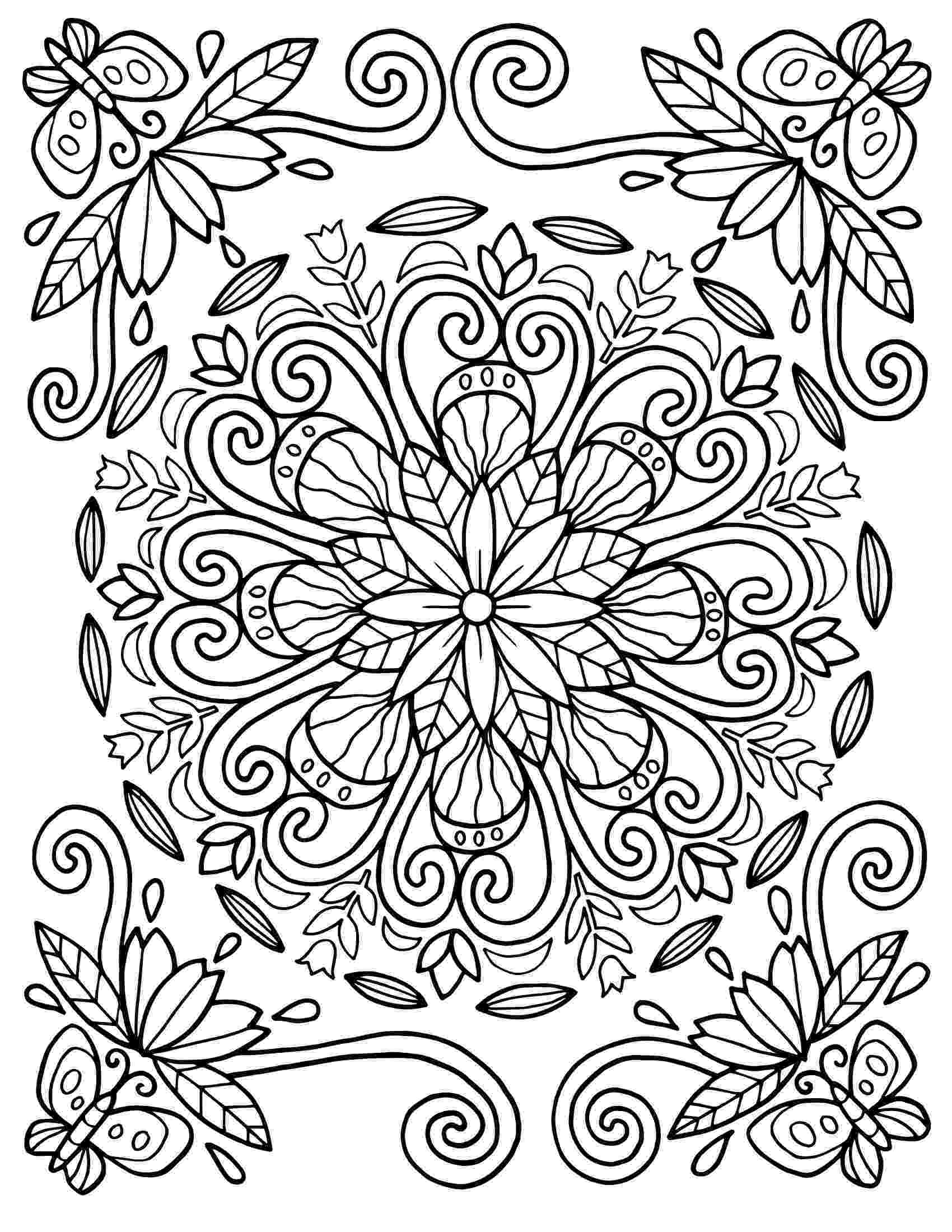 patterns to colour for adults 25 coloring pages including mandalas geometric designs rug to for adults colour patterns