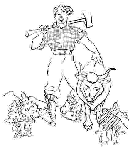 paul bunyan coloring page 1000 images about fairy talesfolk tales on pinterest bunyan coloring paul page
