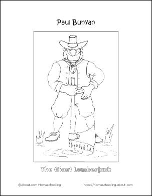 paul bunyan coloring page paul and babe paul bunyan coloring pages sketches coloring bunyan page paul