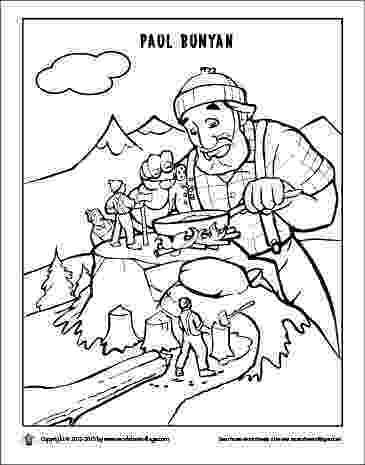 paul bunyan coloring page paul bunyan coloring page coloring home bunyan paul page coloring