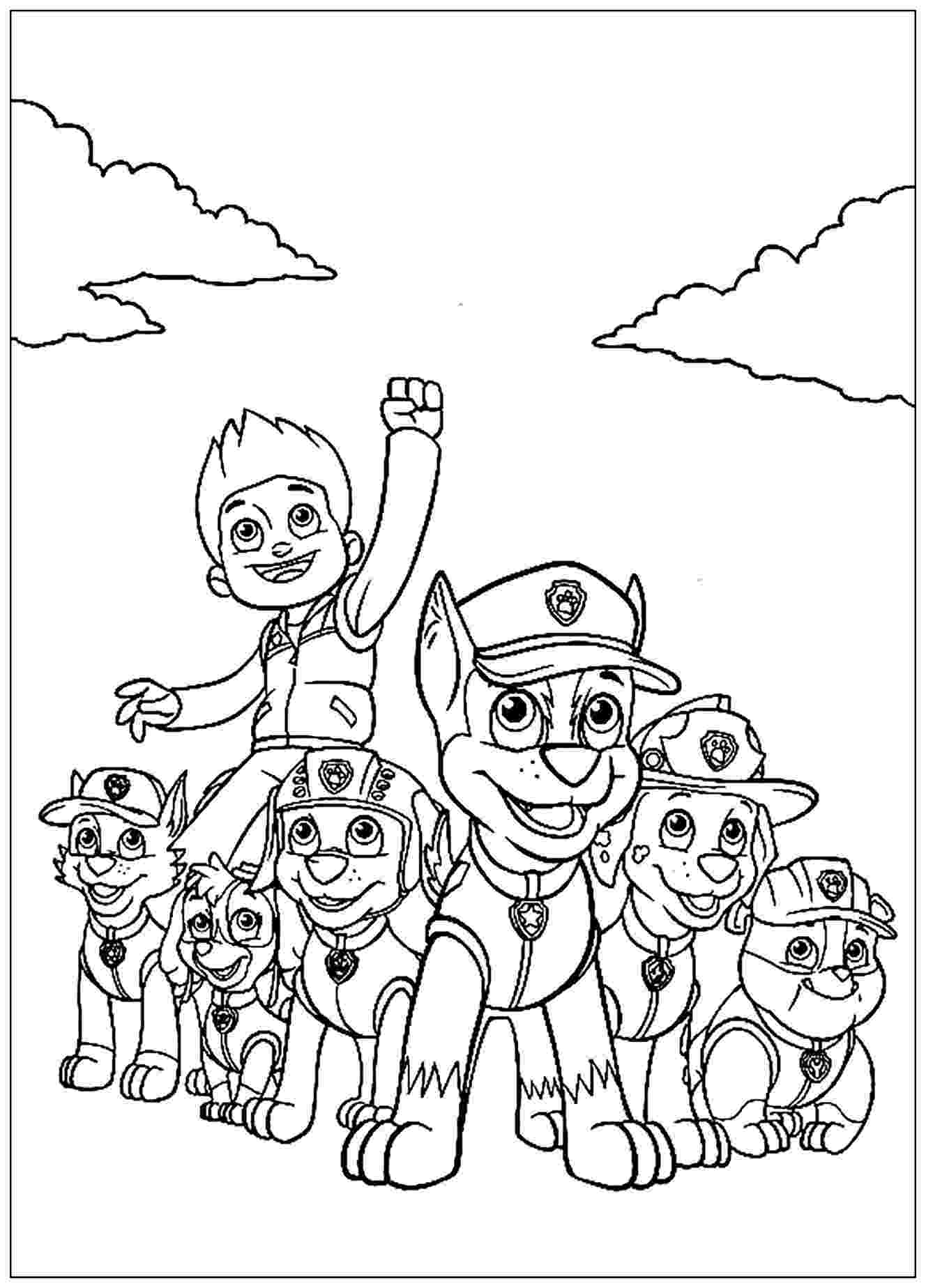 paw patrol coloriage chase paw patrol coloring pages to download and print for free patrol paw coloriage