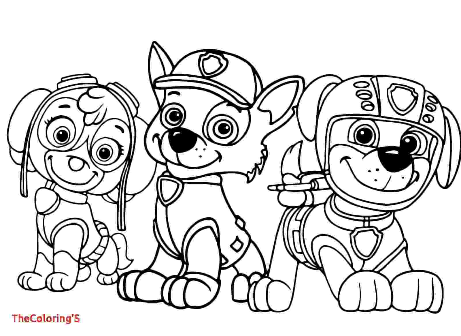 paw patrol coloriage rocky paw patrol coloring pages at getcoloringscom free paw coloriage patrol
