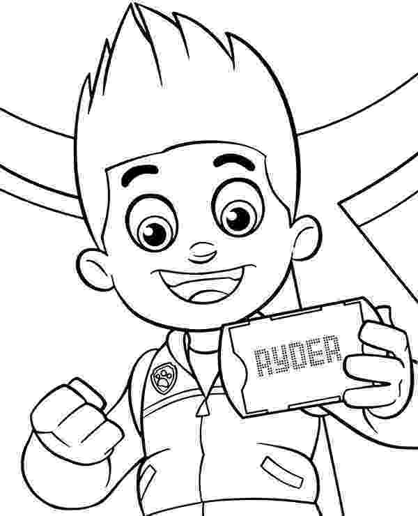 paw patrol ryder coloring page ryder paw patrol coloring pages at getdrawings free download coloring paw page patrol ryder
