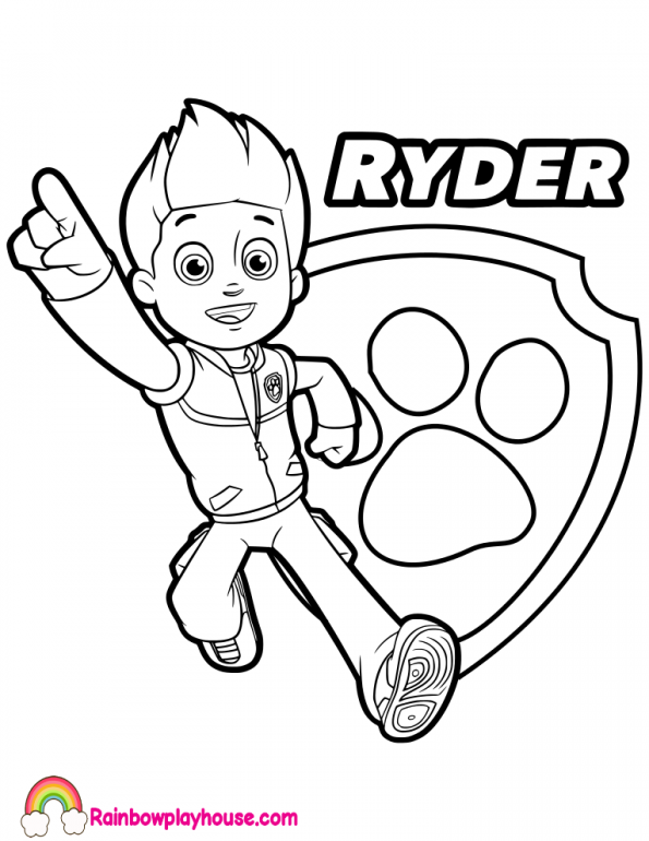 paw patrol ryder coloring page ryder paw patrol coloring pages at getdrawings free download paw ryder page coloring patrol