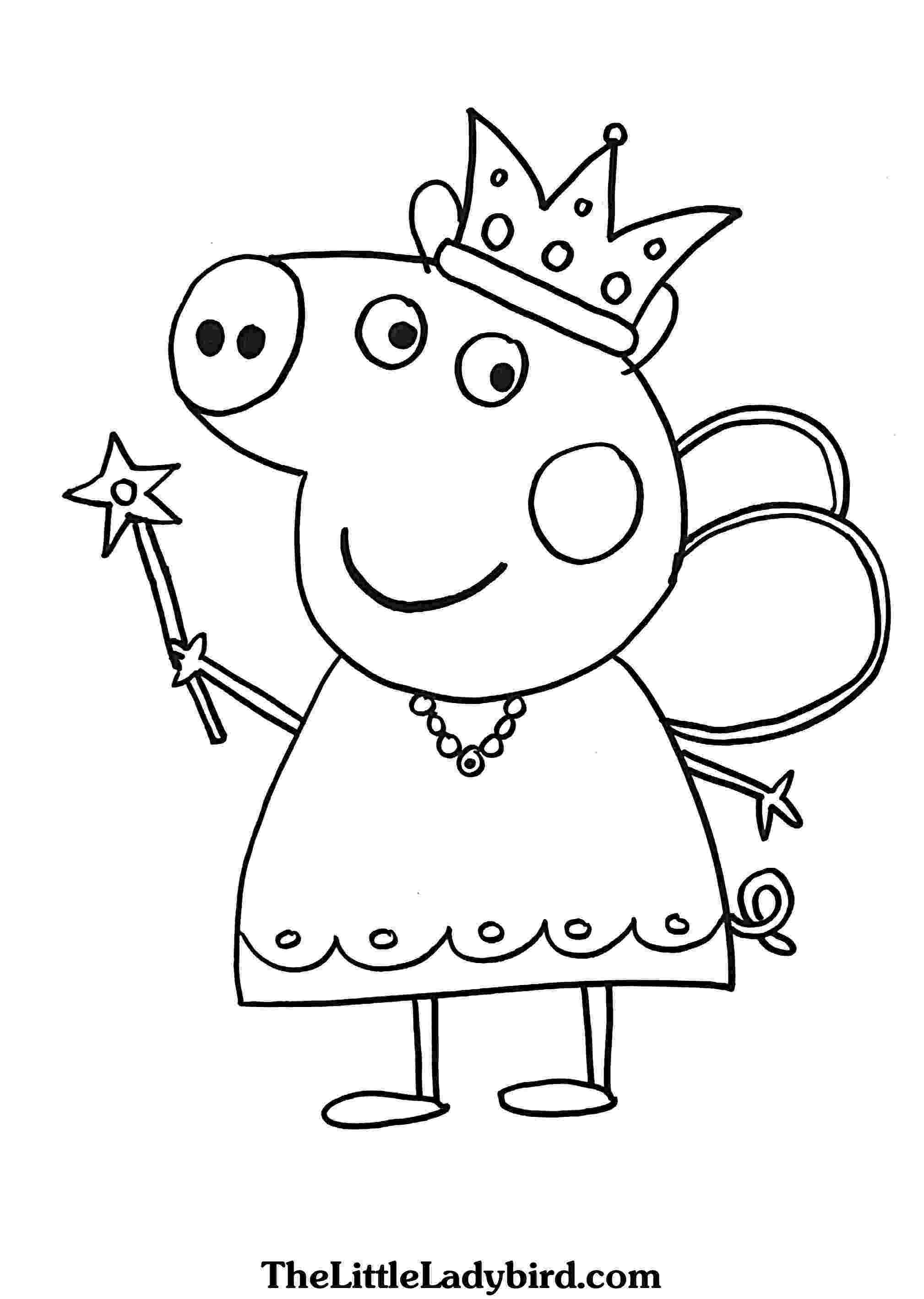 peppa pig colouring pages online peppa pig coloring pages to print for free and color colouring online pig peppa pages