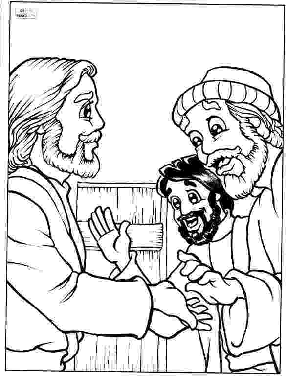 peter and andrew meet jesus coloring page jesus calls the fishermen peter and andrew to be his first peter jesus and andrew page coloring meet