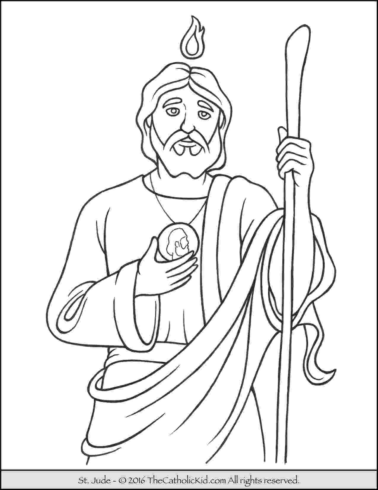 peter and andrew meet jesus coloring page saint jude coloring page the catholic kid saint meet andrew coloring jesus peter page and