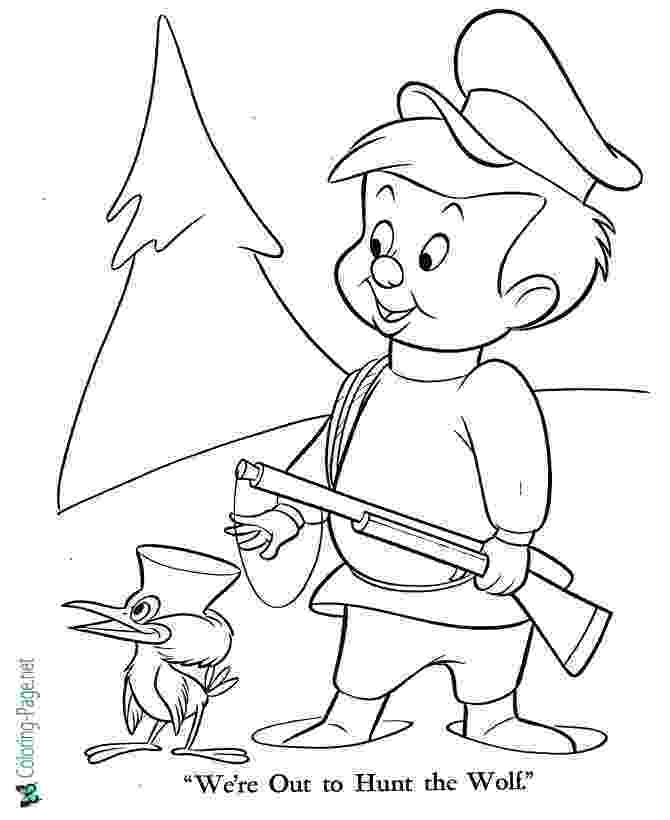peter and the wolf coloring pages color by note peter and the wolf by the bulletin board pages the peter wolf and coloring