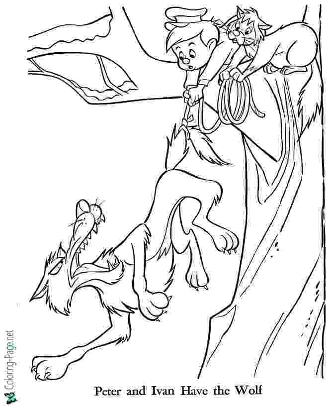 peter and the wolf coloring pages peter and the wolf coloring page hunt the wolf peter pages and wolf coloring the