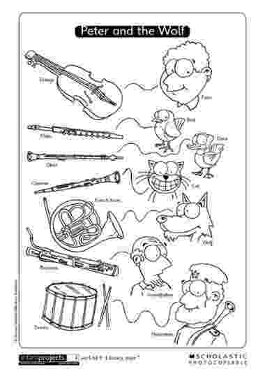 peter and the wolf coloring pages peter and the wolf coloring page wolf music peter and peter coloring and the pages wolf