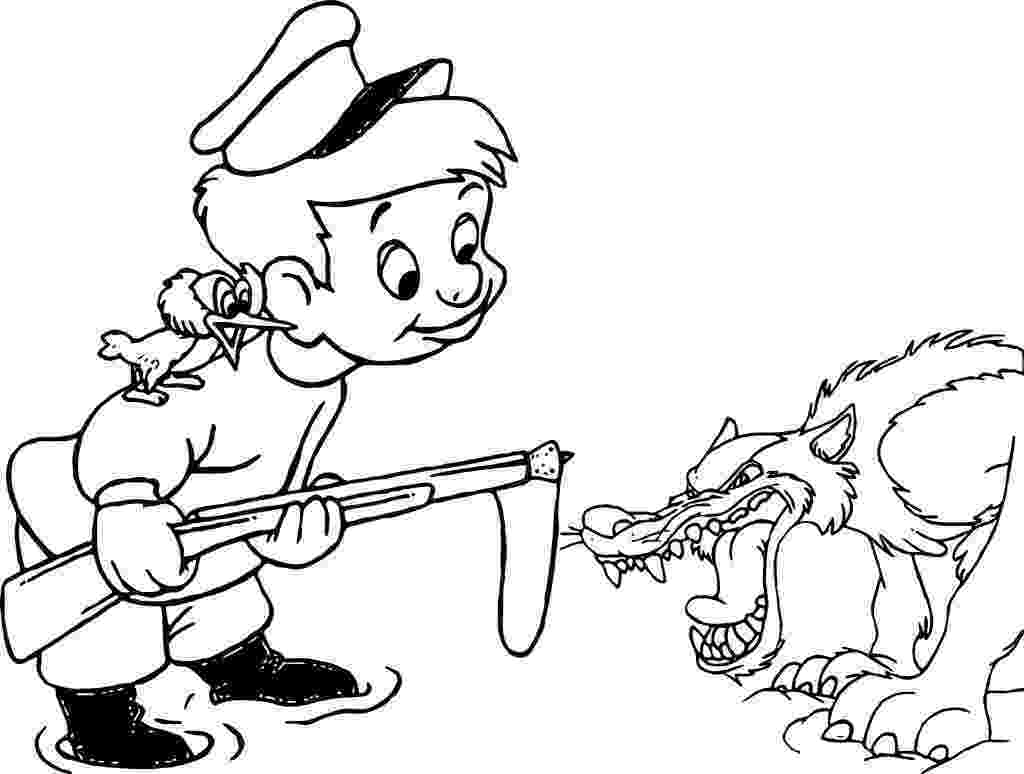 peter and the wolf coloring pages peter and the wolf coloring sheet fun for a homeschool the pages peter wolf and coloring