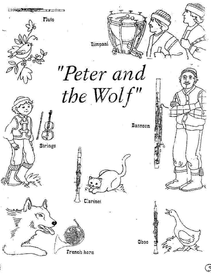 peter and the wolf coloring pages print download wolf coloring pages theme wolf coloring and the pages peter