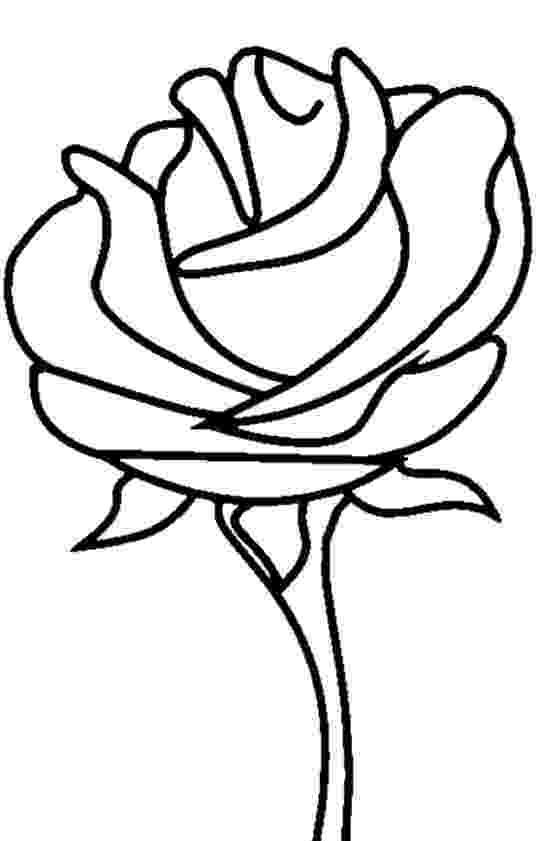 pics of roses to color free printable flower coloring pages for kids best to roses pics of color