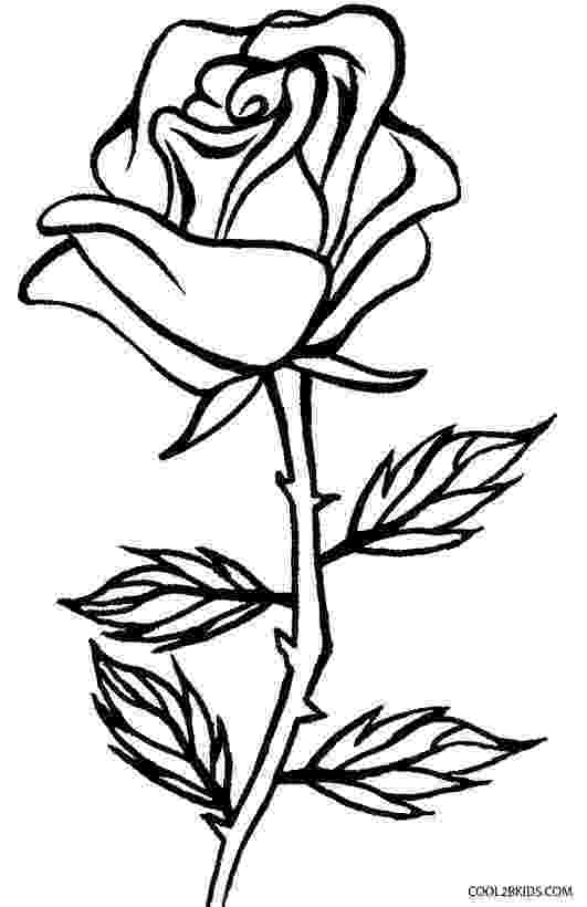 pics of roses to color printable rose coloring pages for kids cool2bkids of to color roses pics