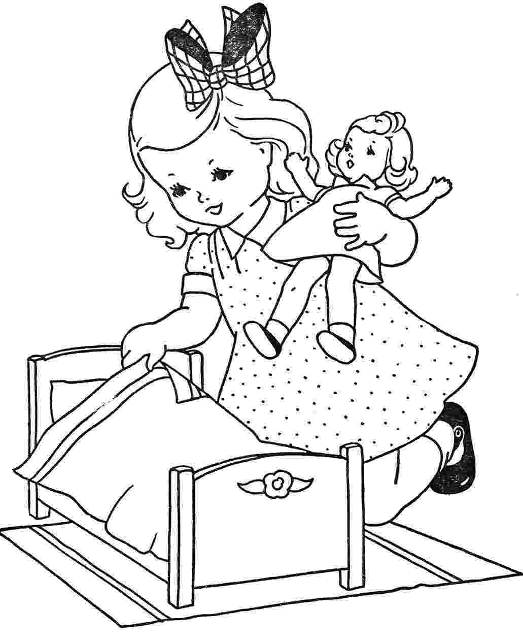picture of a girl to color girl color page family people jobs coloring pages color of picture color to a girl
