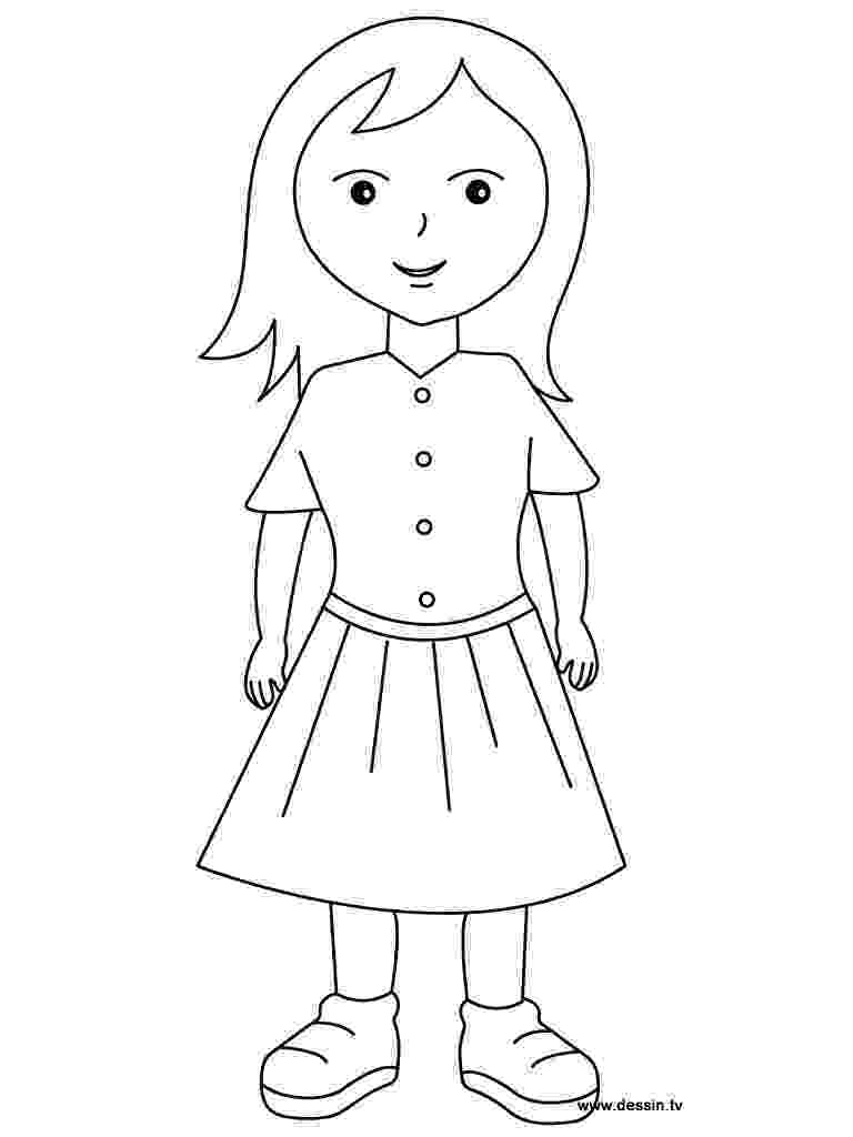 picture of a girl to color little boy and girl coloring pages coloring home color picture of to girl a