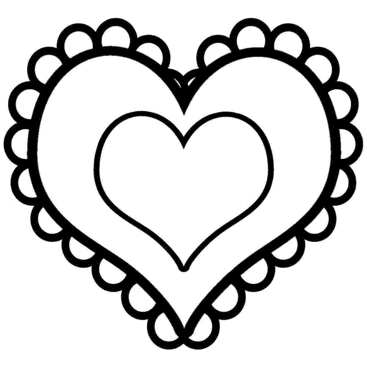 picture of a heart to color free printable heart coloring pages for kids picture a of heart to color