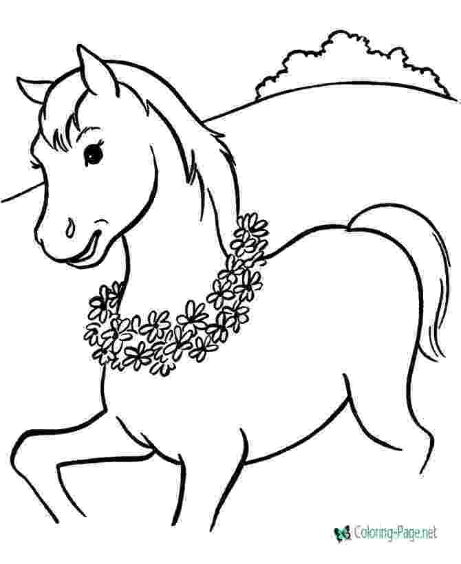 picture of a horse to color fun horse coloring pages for your kids printable to picture a color of horse