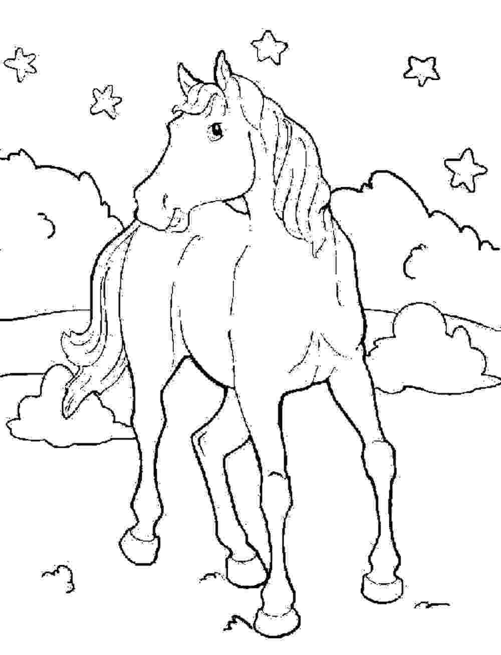 picture of a horse to color horse coloring pages for kids coloring pages for kids horse picture of to color a