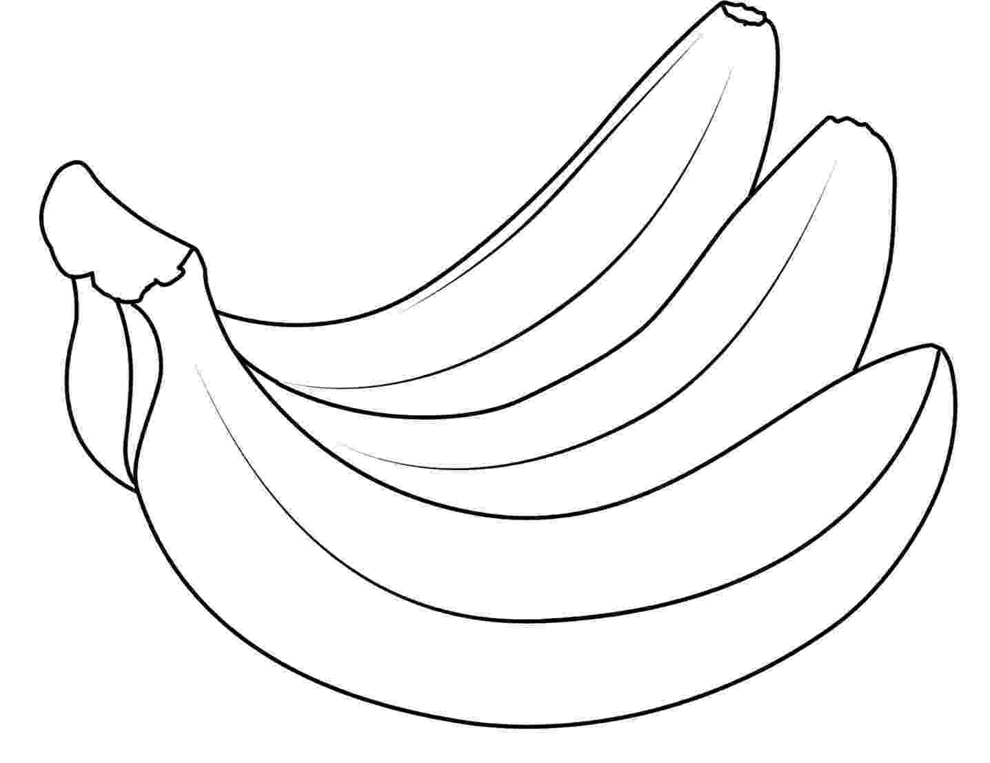 picture of banana for colouring apples and bananas coloring pages download and print for free banana picture of for colouring