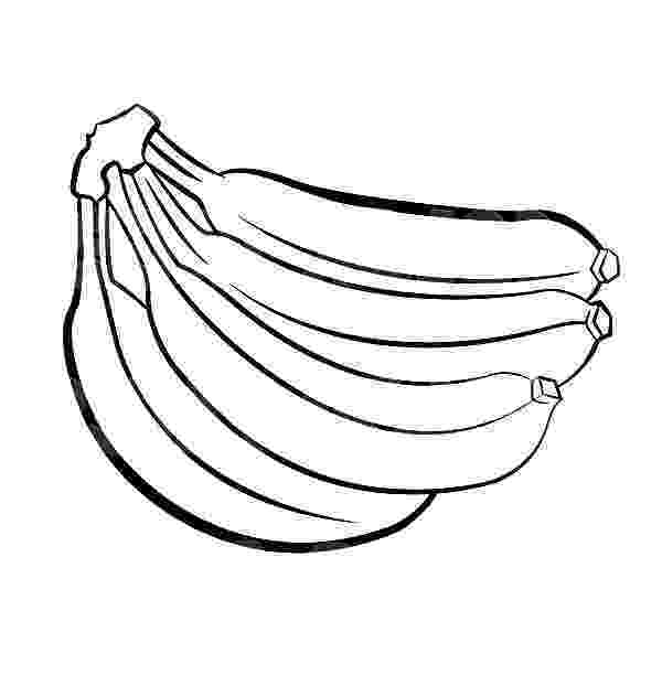 picture of banana for colouring banana bunch netart picture for colouring banana of