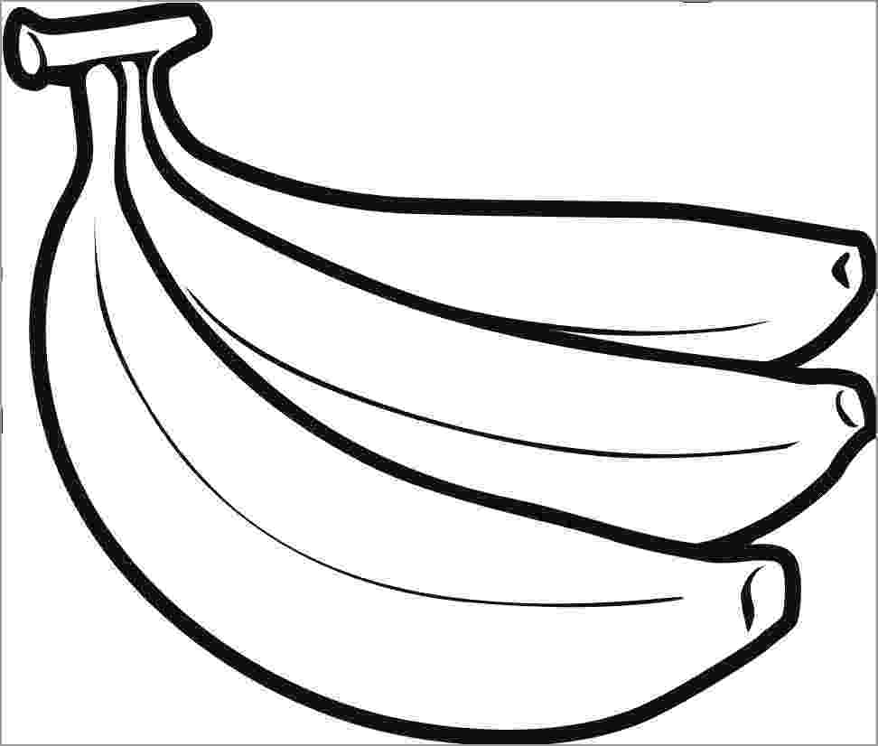 picture of banana for colouring banana coloring pages coloringbay of picture banana for colouring