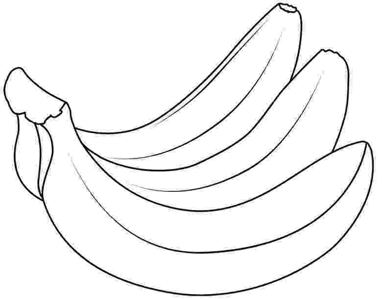 picture of banana for colouring banana coloring pages to download and print for free for banana of colouring picture