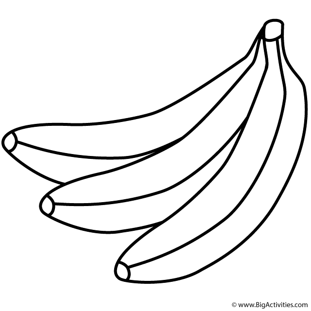 picture of banana for colouring bunch of bananas coloring page fruits and vegetables of for banana picture colouring