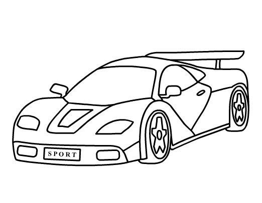 picture of car for colouring printable coloring pages coloringpaintinggamescom of car colouring for picture