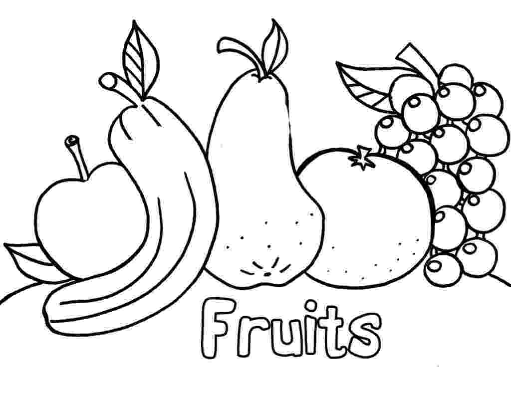 picture of fruits for colouring free printable coloring pages for kids 2015 colouring fruits picture of for