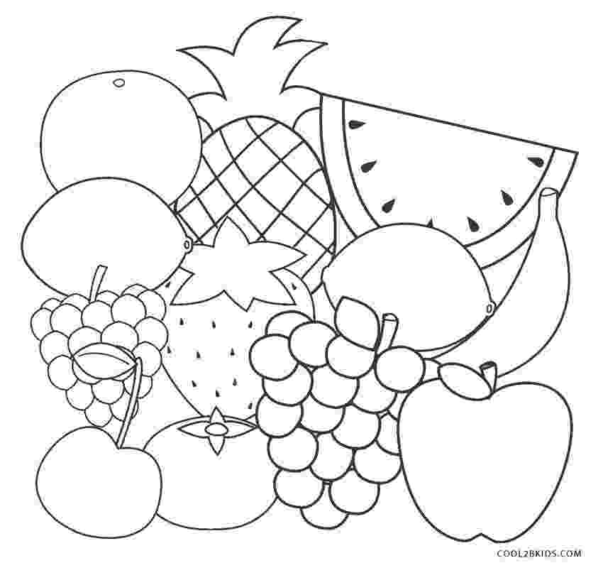 picture of fruits for colouring free printable fruit coloring pages for kids cool2bkids for of picture fruits colouring