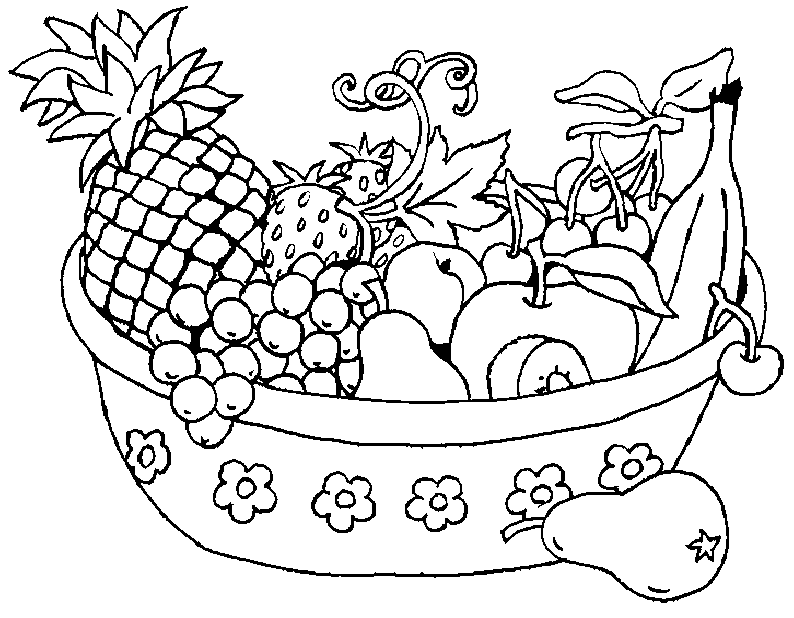picture of fruits for colouring free printable fruit coloring pages for kids fruits of colouring picture for