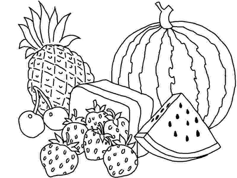 picture of fruits for colouring fruits drawing for colouring at getdrawings free download fruits for picture colouring of