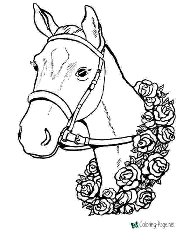 picture of horse to color coloring town picture color of horse to