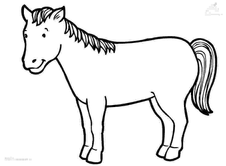 picture of horse to color horse coloring pages for kids coloring pages for kids of color to horse picture