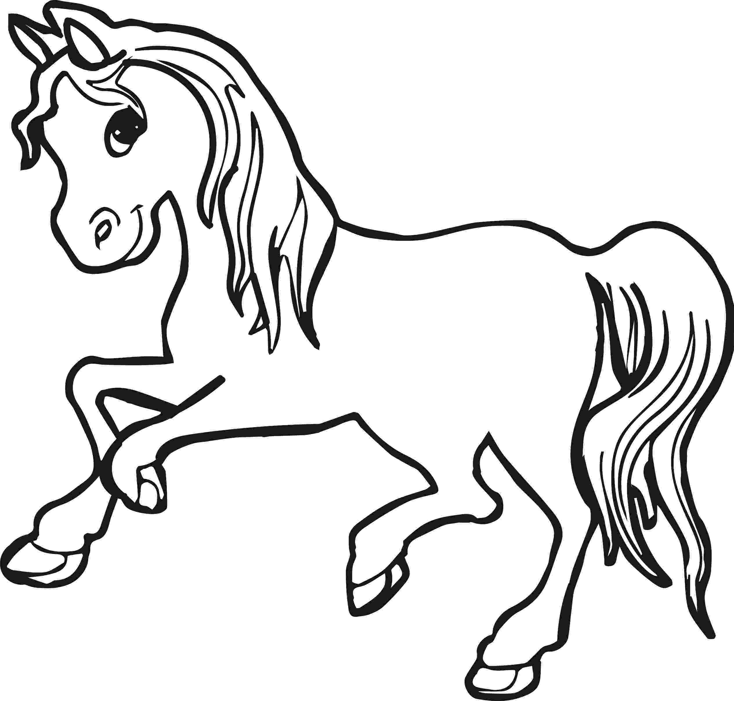picture of horse to color horse coloring pages for kids coloring pages for kids to of horse picture color