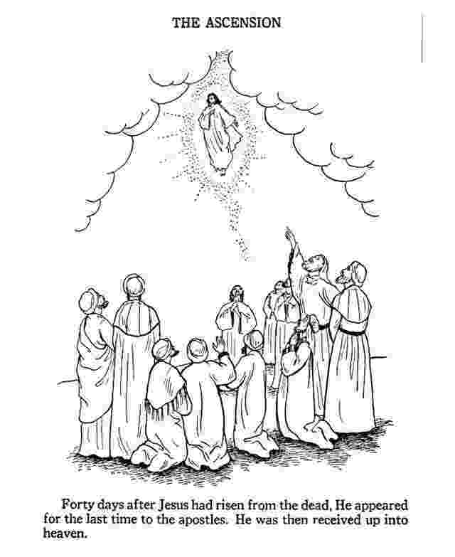 picture of jesus ascending to heaven ascension of jesus christ coloring pages family holiday of heaven picture jesus ascending to