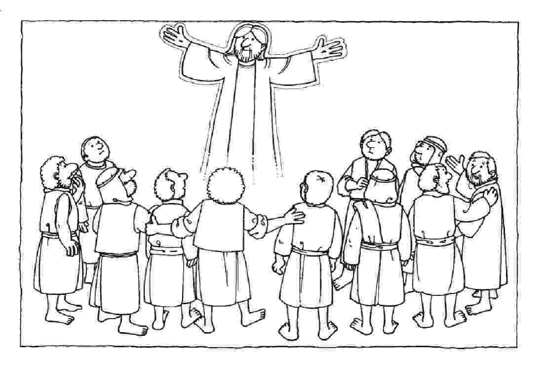 picture of jesus ascending to heaven ascension of jesus christ coloring pages family holiday picture of heaven jesus ascending to