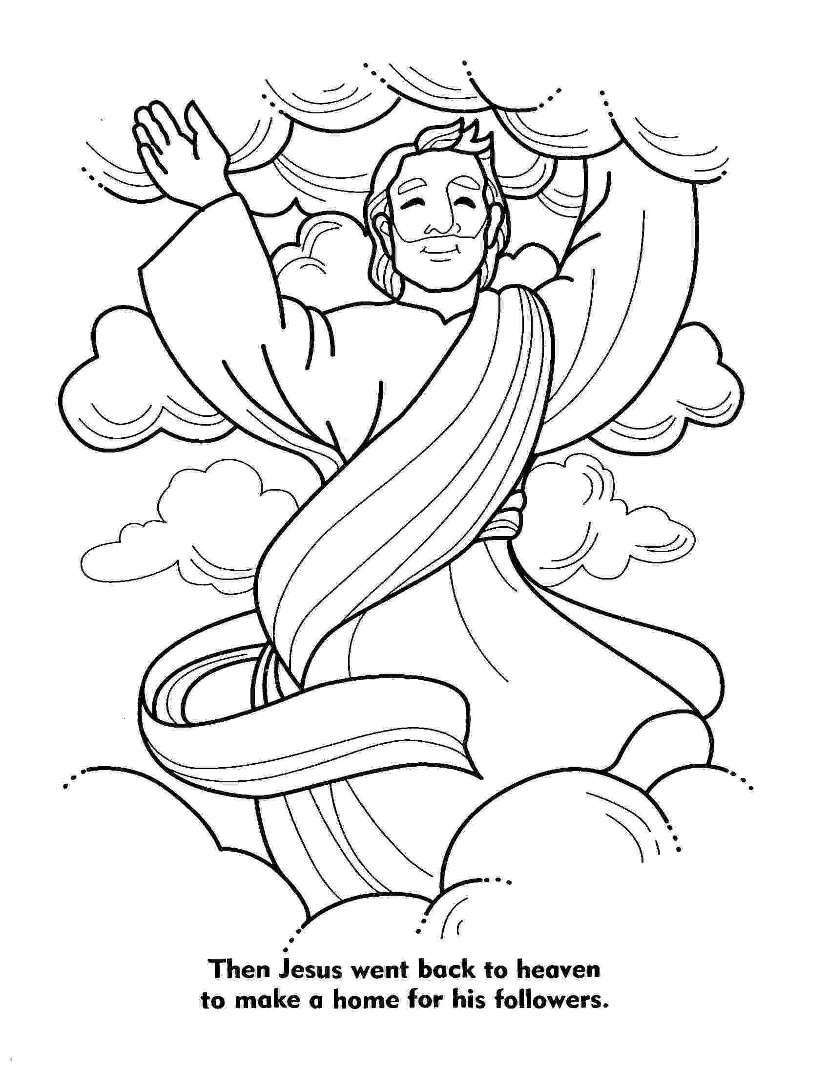 picture of jesus ascending to heaven jesus coloring pictures children bible coloring pages of jesus heaven picture to ascending