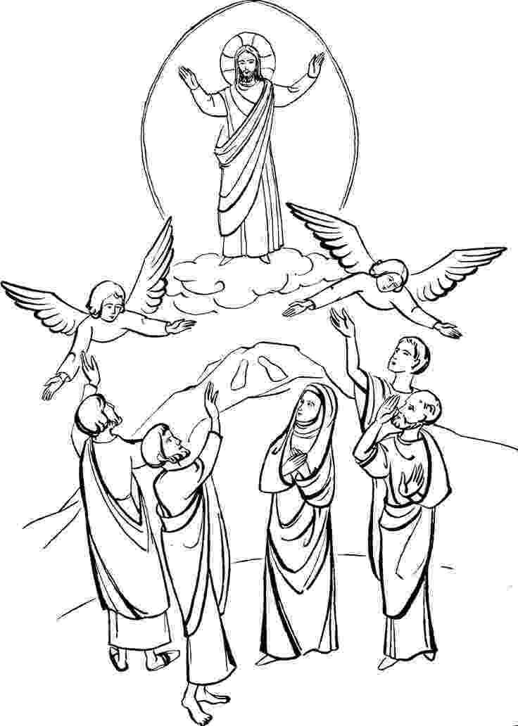 picture of jesus ascending to heaven pin on dibujos de la biblia picture to ascending of heaven jesus