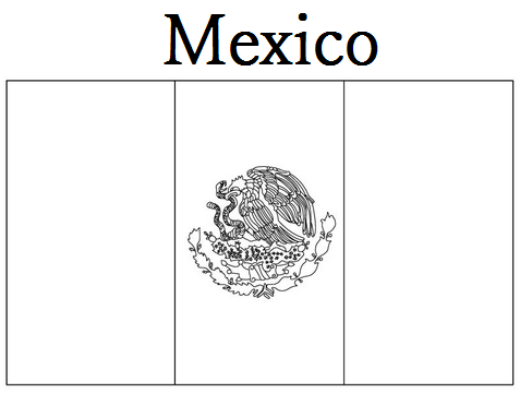 picture of mexican flag to color free mexican flag black and white download free clip art mexican of to picture color flag