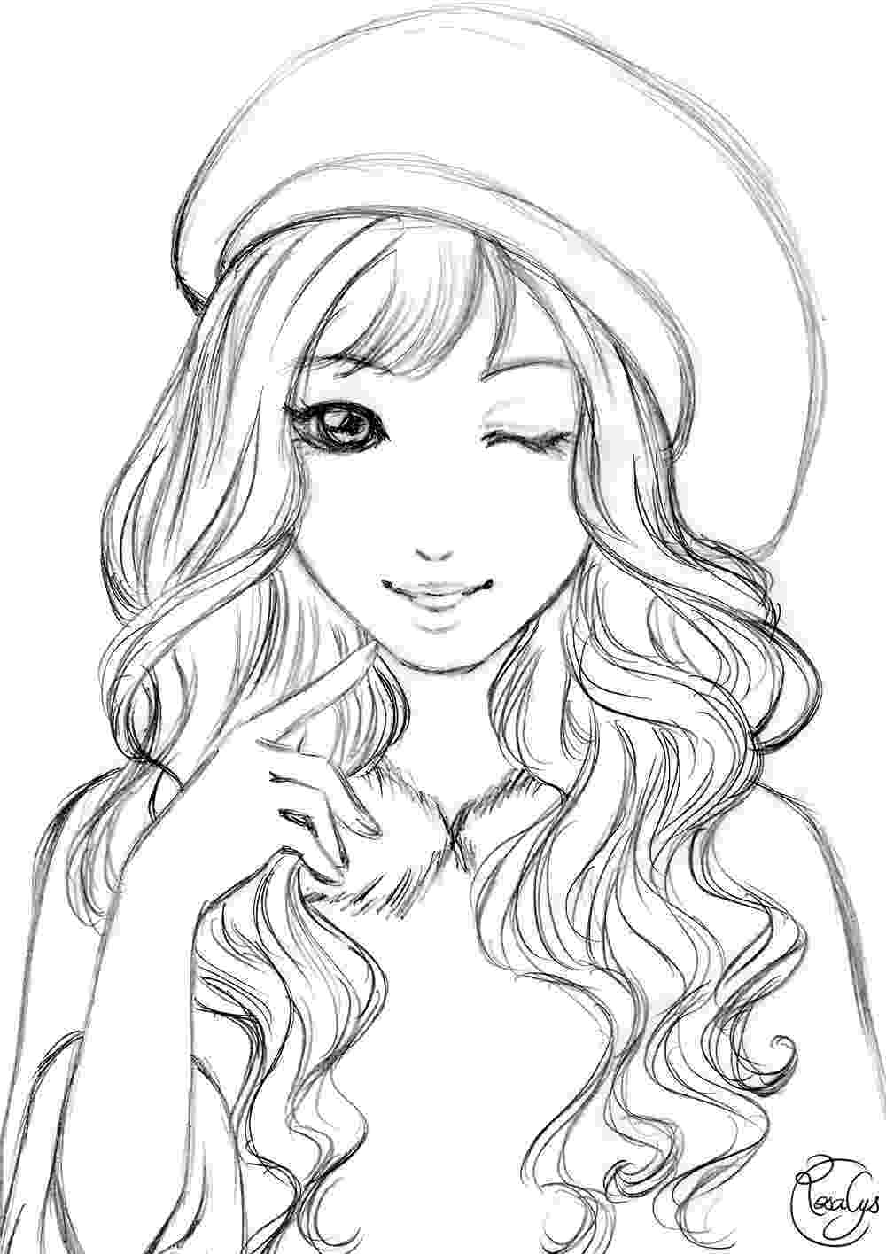 pictures for girls to colour linearts rosalys artist pictures for girls to colour