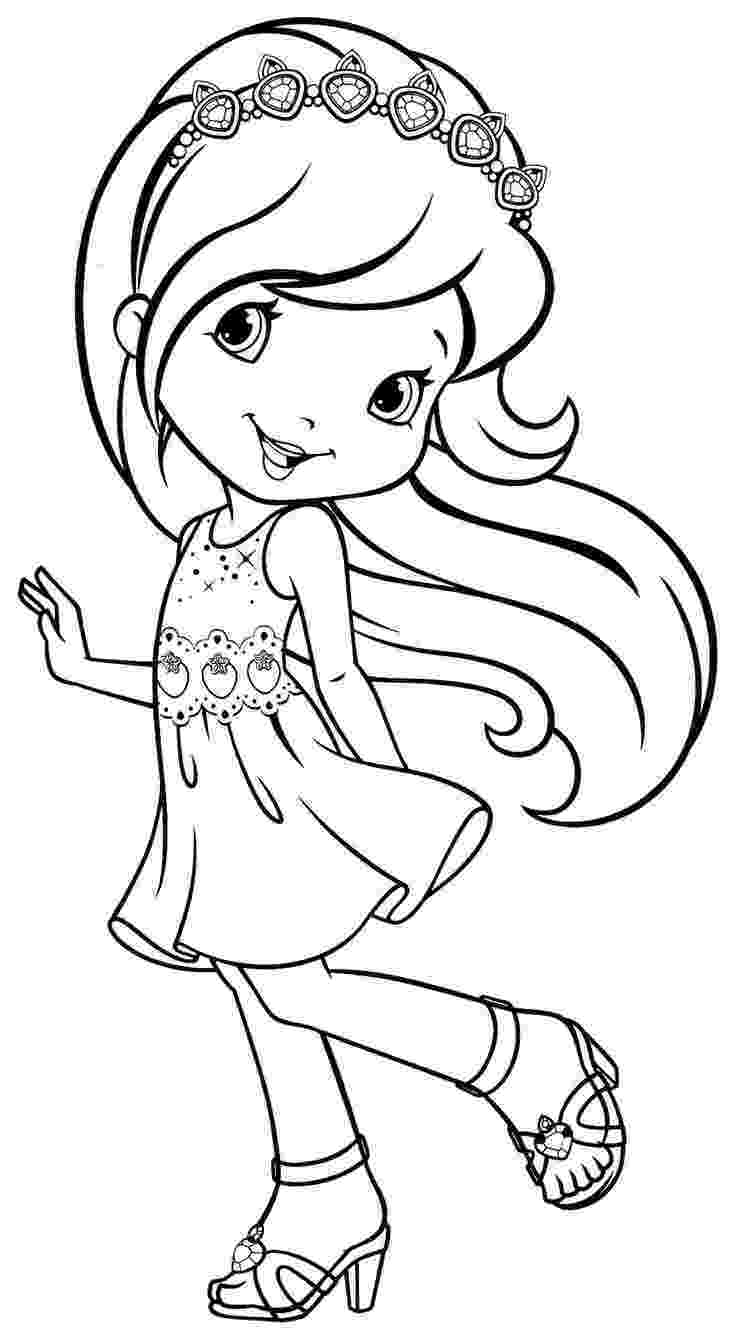 pictures for girls to colour strawberry shortcake berrykins coloring pages download and to pictures colour for girls