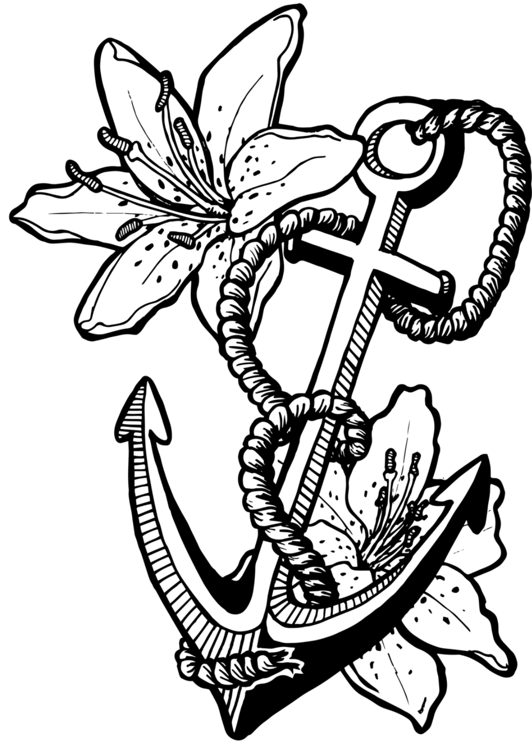 pictures of anchors to color anchor coloring pages getcoloringpagescom color anchors of pictures to