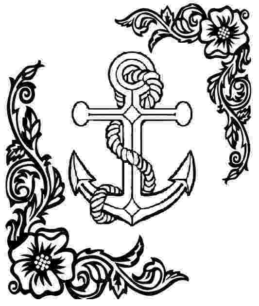 pictures of anchors to color anchor coloring pages getcoloringpagescom color of to anchors pictures