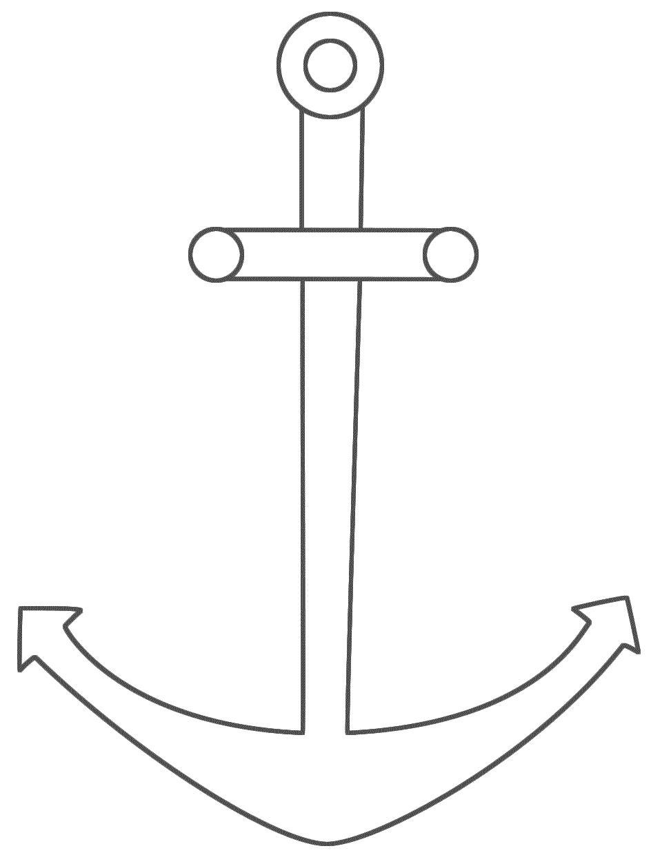 pictures of anchors to color anchor coloring pages getcoloringpagescom color to pictures of anchors