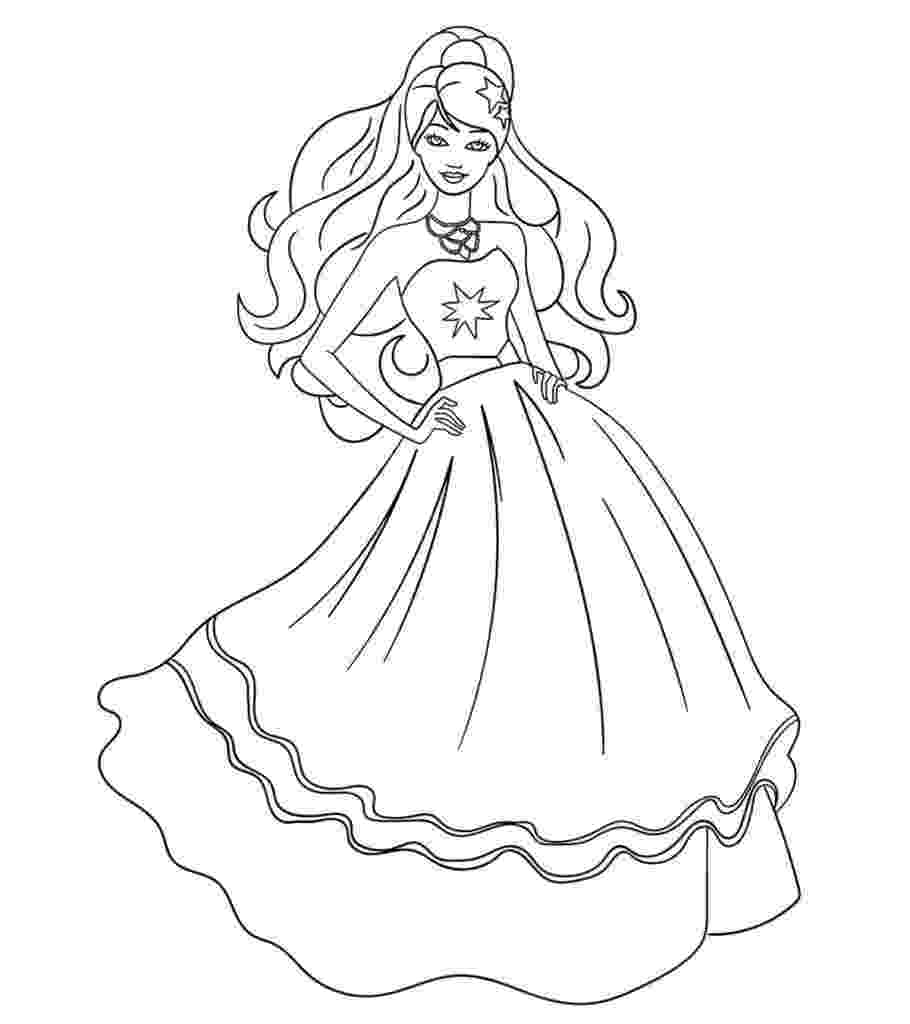 pictures of barbie for colouring easy barbie coloring pages at getcoloringscom free colouring pictures barbie of for