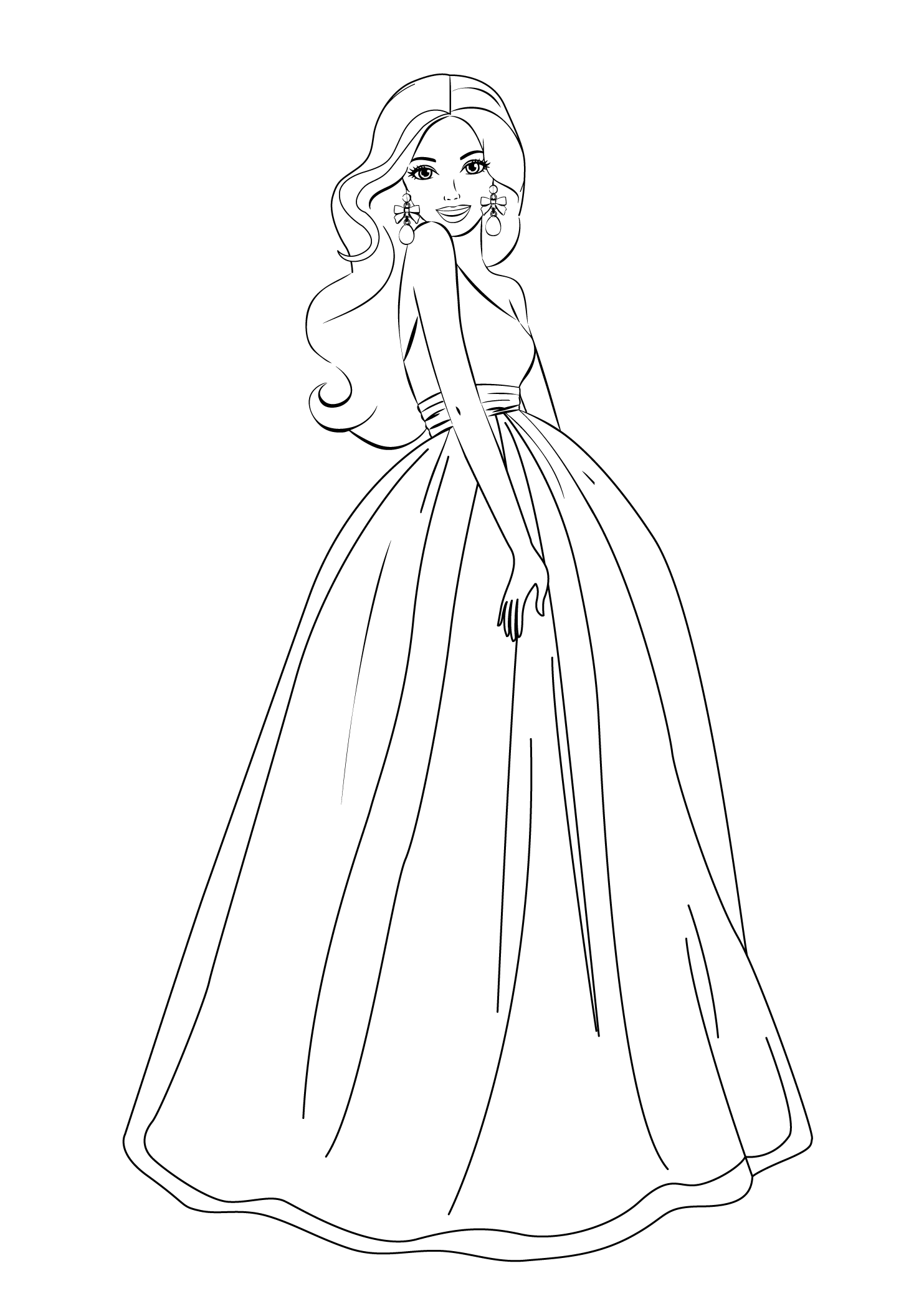 pictures of barbie for colouring printable barbie princess coloring pages for kids cool2bkids pictures for colouring barbie of