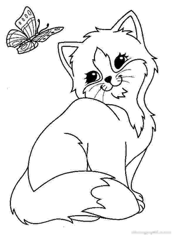 pictures of cats and kittens to color cats and kitten coloring pages 34 kids pinterest and to cats color kittens pictures of