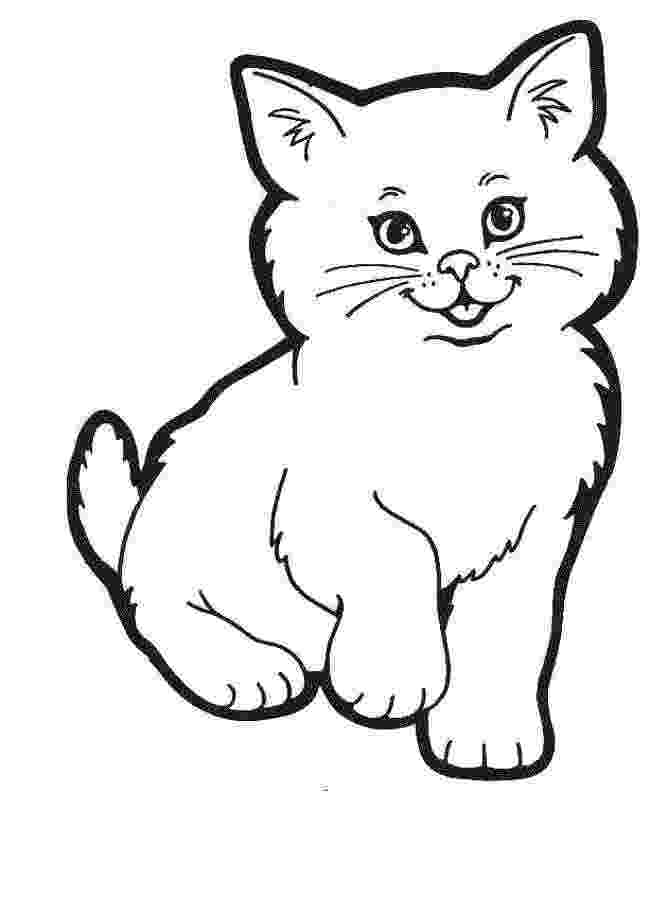 pictures of cats and kittens to color pictures of cats to colour cartoon cat drawing simple and cats color to pictures of kittens